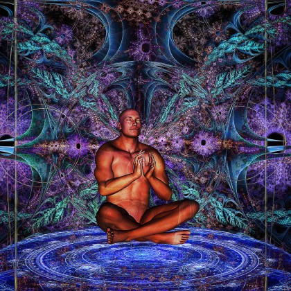 meditation in a alien forest by James Alan Smith