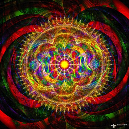 Centered in Chaos Mandala by James Alan Smith
