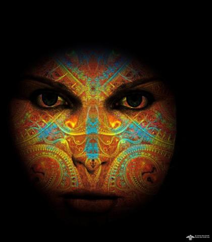 Fractal Goddess by James Alan Smith