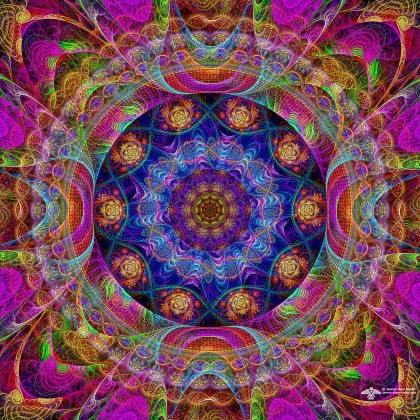 Funky color mandala by James Alan Smith