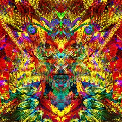 Rainbow feather girl by James Alan Smith