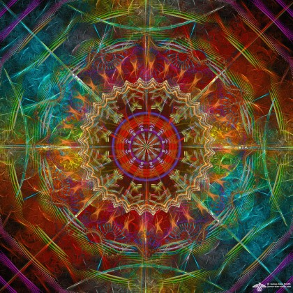 Color Shift Mandala by James Alan Smith