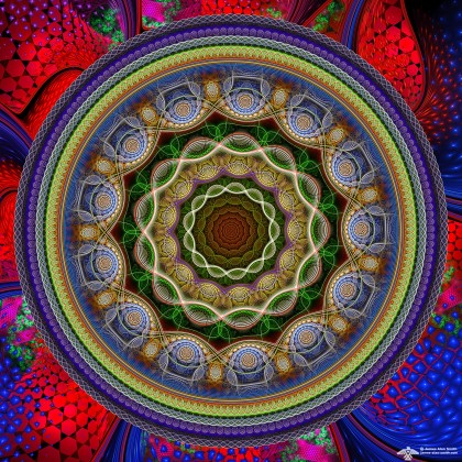 A Good Sunday Color Mandala by James Alan Smith