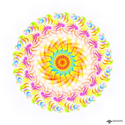 Just a Simple Mandala by James Alan Smith