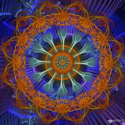 Orange spirit Mandala by James Alan Smith
