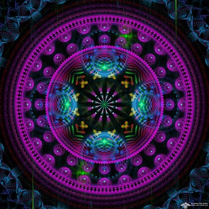 good purple mandala by James Alan Smith