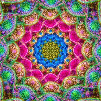 Radiant Star Mandala by James Alan Smith