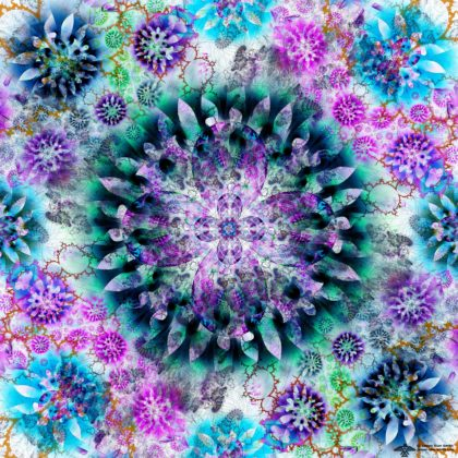 Flowers in Fractal Space by James Alan Smith