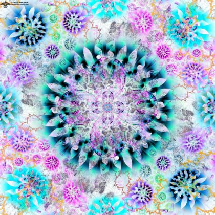 Abstract Petal Mandala by James Alan Smith