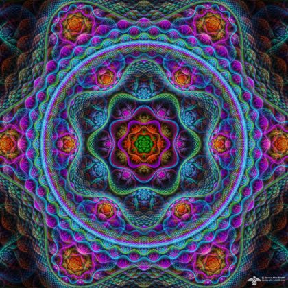 Friday's Mandala by James Alan Smith