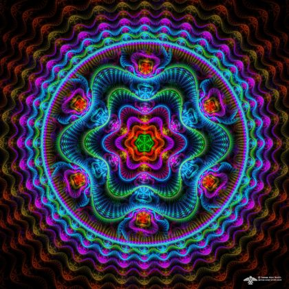 Vibratory Mandala by James Alan Smith