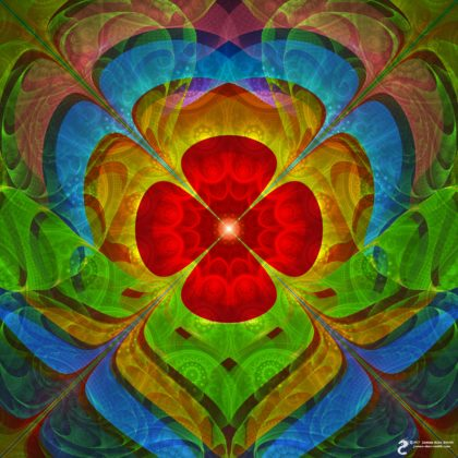 Flower Abstraction by James Alan Smith