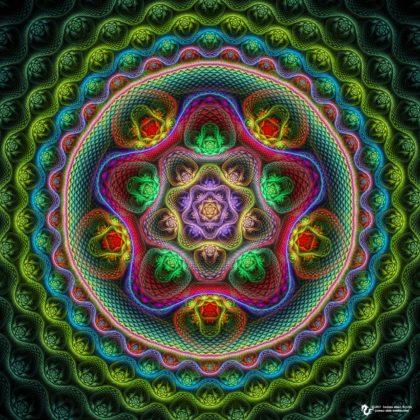 Five lobe Mandala by James Alan Smith