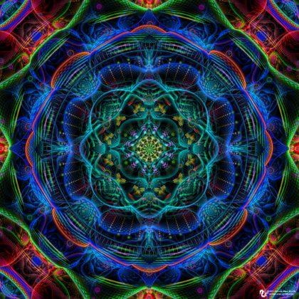 Lightbright Mandala by James Alan Smith