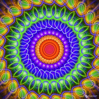 Golden Halo Mandala by James Alan Smith