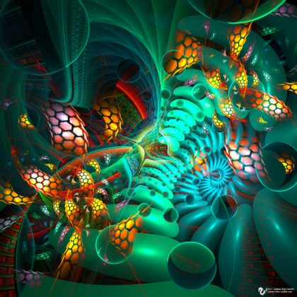 elemental construct digital art by James Alan Smith