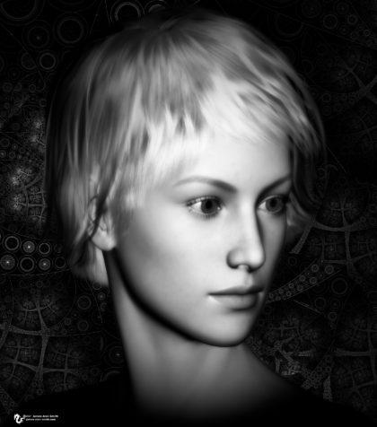 girl art study 6-23-17: Digital Artwork by James Alan Smith