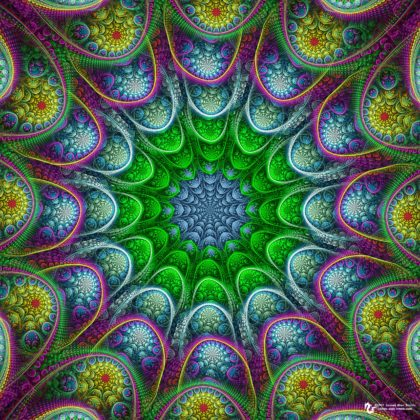 Abstract Continuation Mandala: Artwork by James Alan Smith