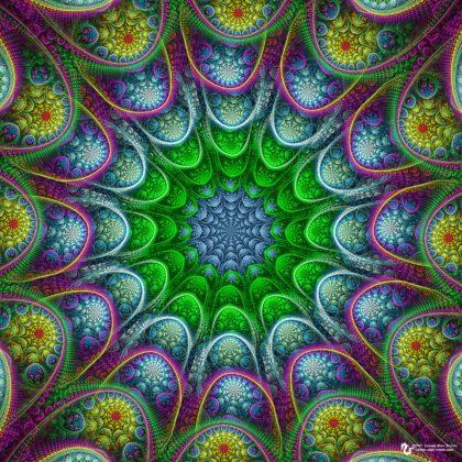 Abstract Continuation Mandala: Artwork by James Alan Smith