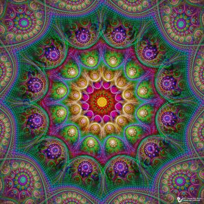 Transcendental Mandala: Digital Artwork by James Alan Smith