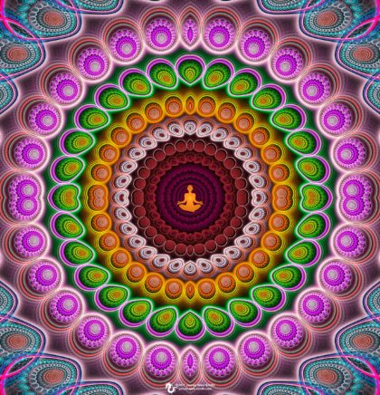 Abstract Meditation Mandala: Artwork by James Alan Smith