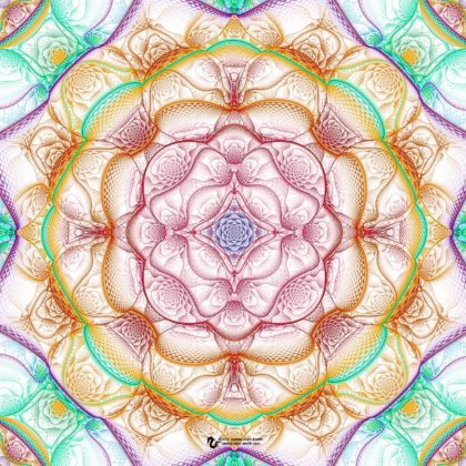 Lavender Rose Mandala: Artwork by James Alan Smith