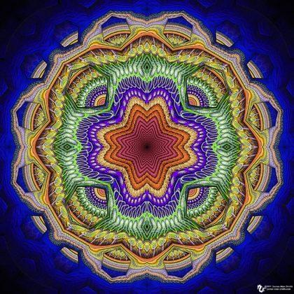 Hexagon Cutout Mandala: Artwork by James Alan Smith