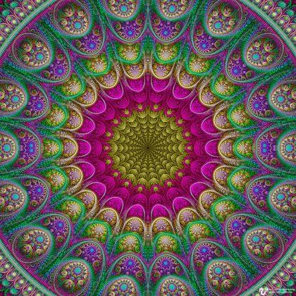 Unfolding Golden Center Mandala: Artwork by James Alan Smith