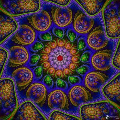 Clockwise Flow Mandala: Artwork by James Alan Smith