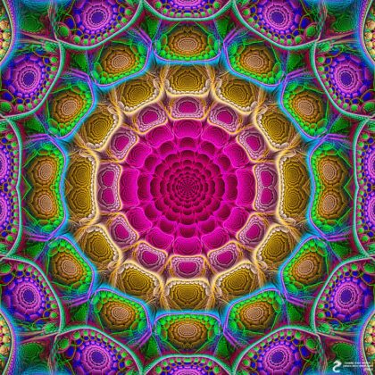 Reflecting Mirror Mandala: Artwork by James Alan Smith