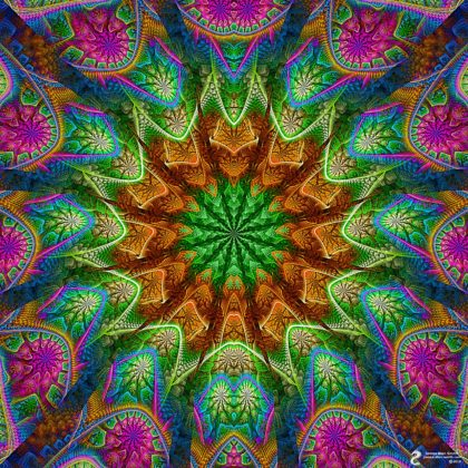 Warm Center Mandala: Artwork by James Alan Smith
