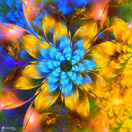 Blue Daisy: Artwork by James Alan Smith