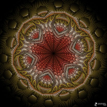 Ephemeral Abstraction Mandala: Artwork by James Alan Smith
