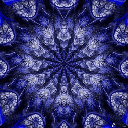 Ice blue mandala: Artwork by James Alan Smith